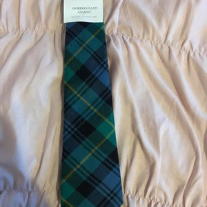 Lochcarron plaid wool tie